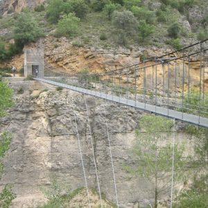 Puente colgante Mont Rebei-Montfalco