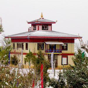 Templo Budista nevado